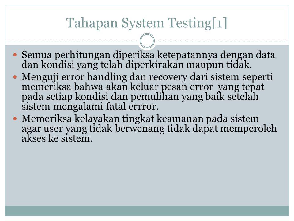 Tahapan System Testing[1]